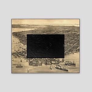 Vintage Pictorial Map of Key West FL Picture Frame