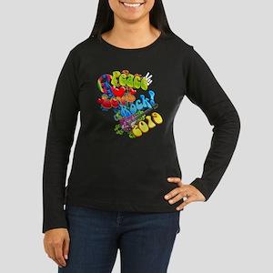 Peace Love Rock 2 Women's Long Sleeve Dark T-Shirt