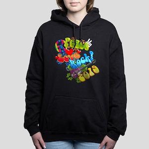 Peace Love Rock 2019 Women's Hooded Sweatshirt