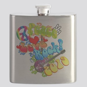 Peace Love Rock 2019 Flask