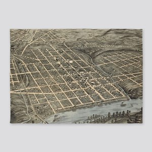 Vintage Map of Knoxville TN (1871) 5'x7'Area Rug
