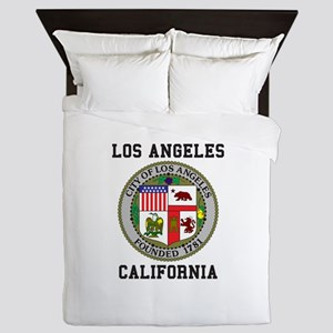 Los Angeles California Queen Duvet