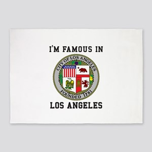 I'm Famous In Los Angeles 5'x7'Area Rug