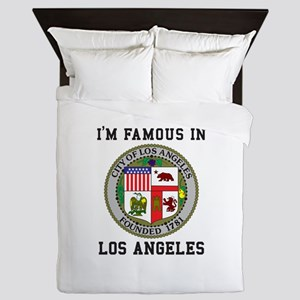 I'm Famous In Los Angeles Queen Duvet