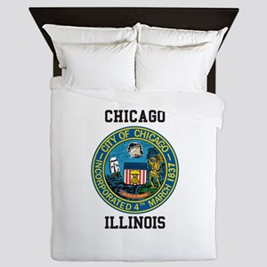 Chicago Illinois Queen Duvet