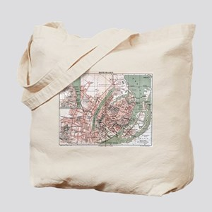Vintage Map of Copenhagen Denmark (1888) Tote Bag