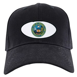 City Chicago Black Cap With Patch - CafePress 36ef146d84f