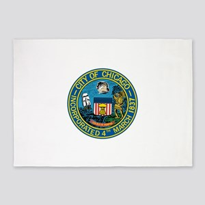 City of Chicago Seal 5'x7'Area Rug