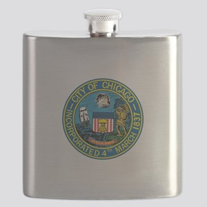 City of Chicago Seal Flask