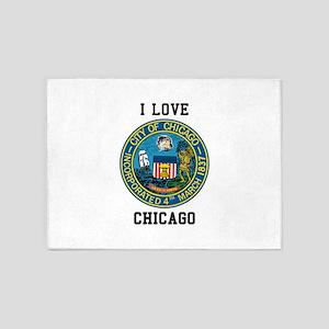 I Love Chicago 5'x7'Area Rug