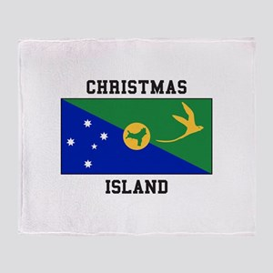 Christmas Island Throw Blanket