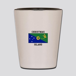 Christmas Island Shot Glass