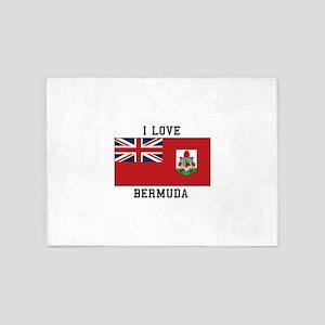 I Love Bermuda Flag 5'x7'Area Rug