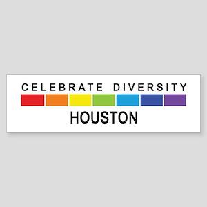 HOUSTON - Celebrate Diversity Bumper Sticker