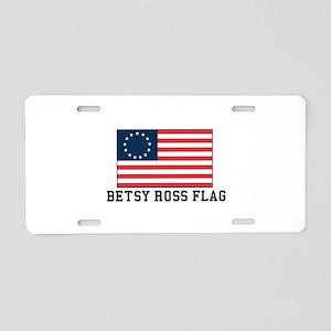 Betsy ross Flag Aluminum License Plate
