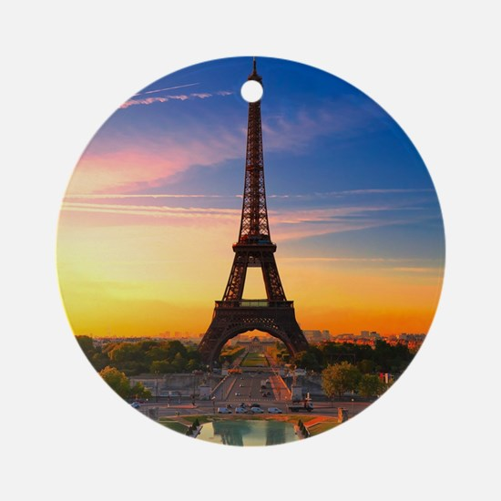 Eiffel Tower Ornament (Round)
