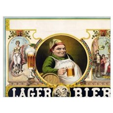 Vintage Lager Beer Advertisement Canvas Art