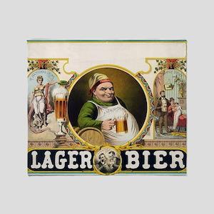 Vintage Lager Beer Advertisement Throw Blanket