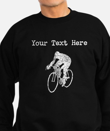 Distressed Cyclist Silhouette (Custom) Sweatshirt