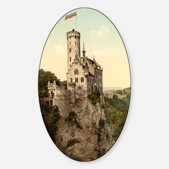 Lichtenstein Castle Sticker (Oval)