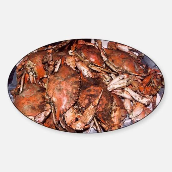 Crab Feast Sticker (Oval)
