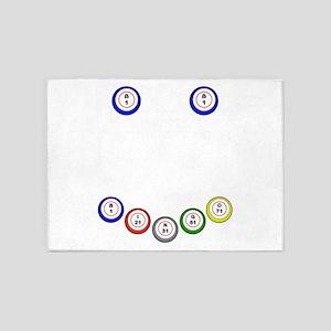 Bingo Balls Smile 5'x7'Area Rug