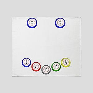 Bingo Balls Smile Throw Blanket