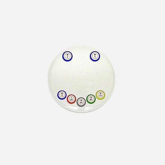 Bingo Balls Smile Mini Button