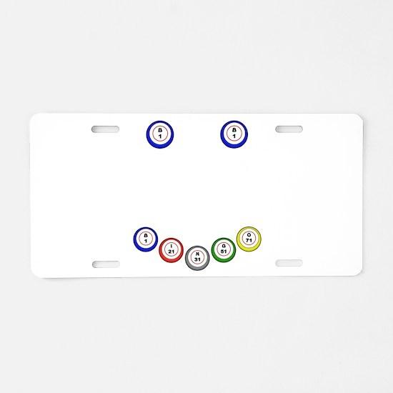 Bingo Balls Smile Aluminum License Plate