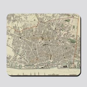 Vintage Map of Liverpool England (1836) Mousepad