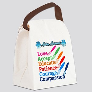 Autism Awareness Brushes Canvas Lunch Bag