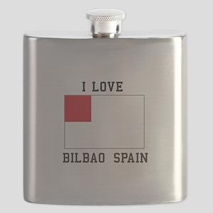 I Love bilbao spain Flask