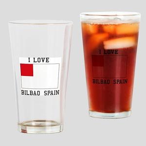 I Love bilbao spain Drinking Glass