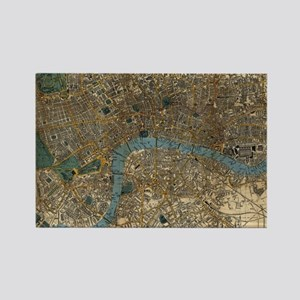 Vintage Map of London England (18 Rectangle Magnet