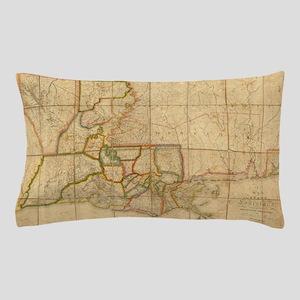 Vintage Map of Louisiana (1816) Pillow Case