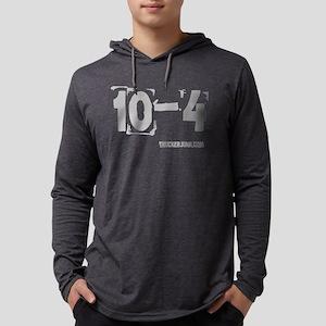 2-10-4 Gray Mens Hooded Shirt