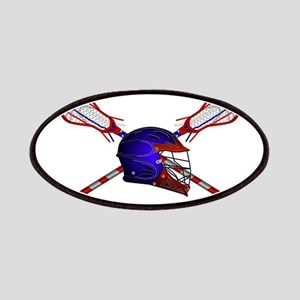 Lacrosse Helmet with sticks Patch