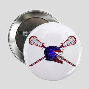 "Lacrosse Helmet with sticks 2.25"" Button"