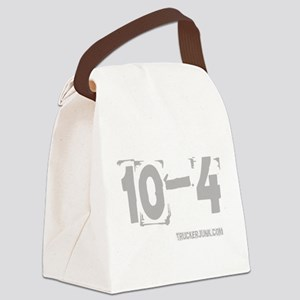 2-10-4 Gray Canvas Lunch Bag
