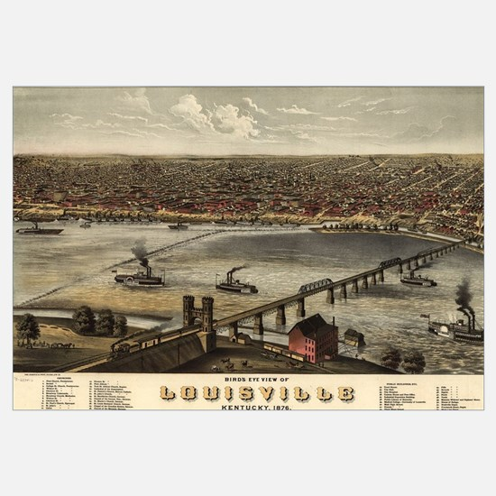 Vintage Pictorial Map of Louisville (1876)