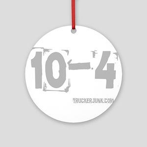 2-10-4 Gray Round Ornament