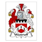 Woodruff Family Crest Small Poster