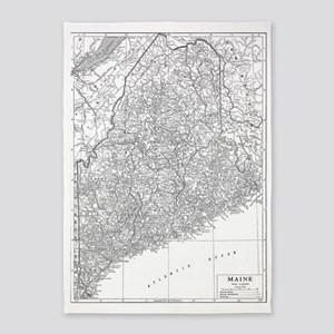 Vintage Map of Maine (1911) 5'x7'Area Rug