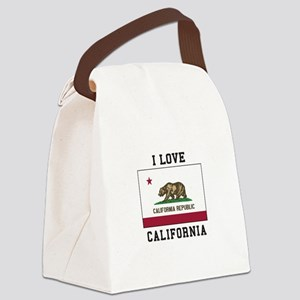 I Love California Canvas Lunch Bag