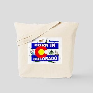 COLORADO BORN Tote Bag