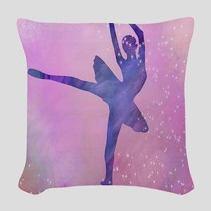 Dancing Ballerina Woven Throw Pillow