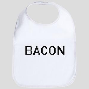 Bacon digital retro design Bib