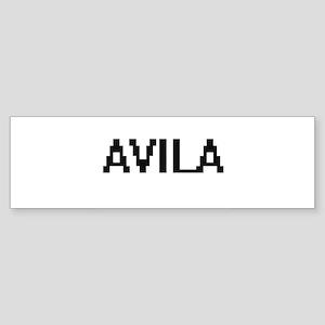 Avila digital retro design Bumper Sticker
