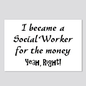 social worker money Postcards (Package of 8)