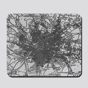 Vintage Map of Manchester England (1911) Mousepad